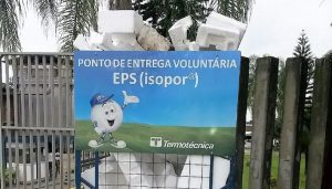 Ponto de Coleta para reciclagem de EPS pós-consumo
